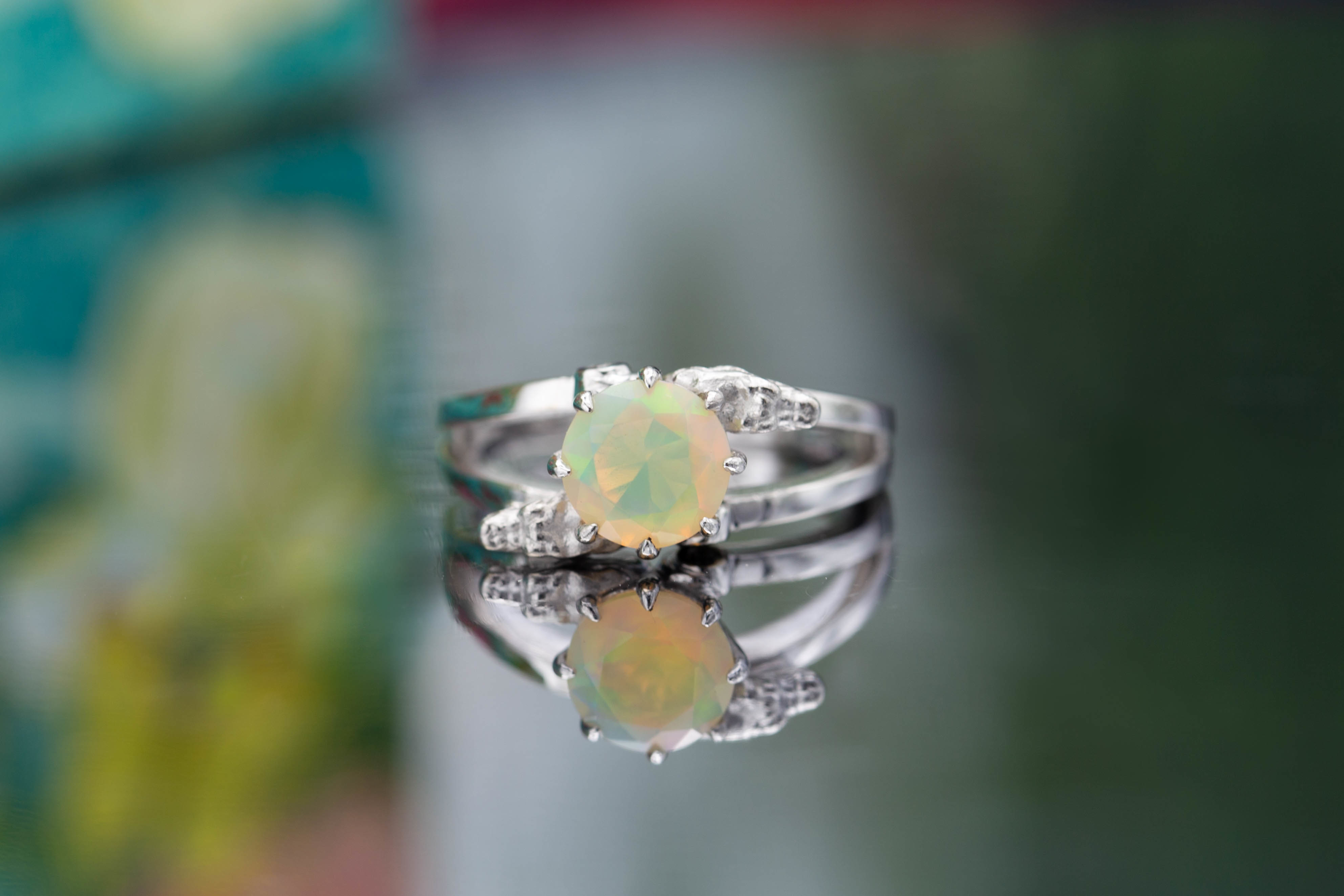 An Incredible Union Of Colors Choosing Opal Engagement Ring Stones