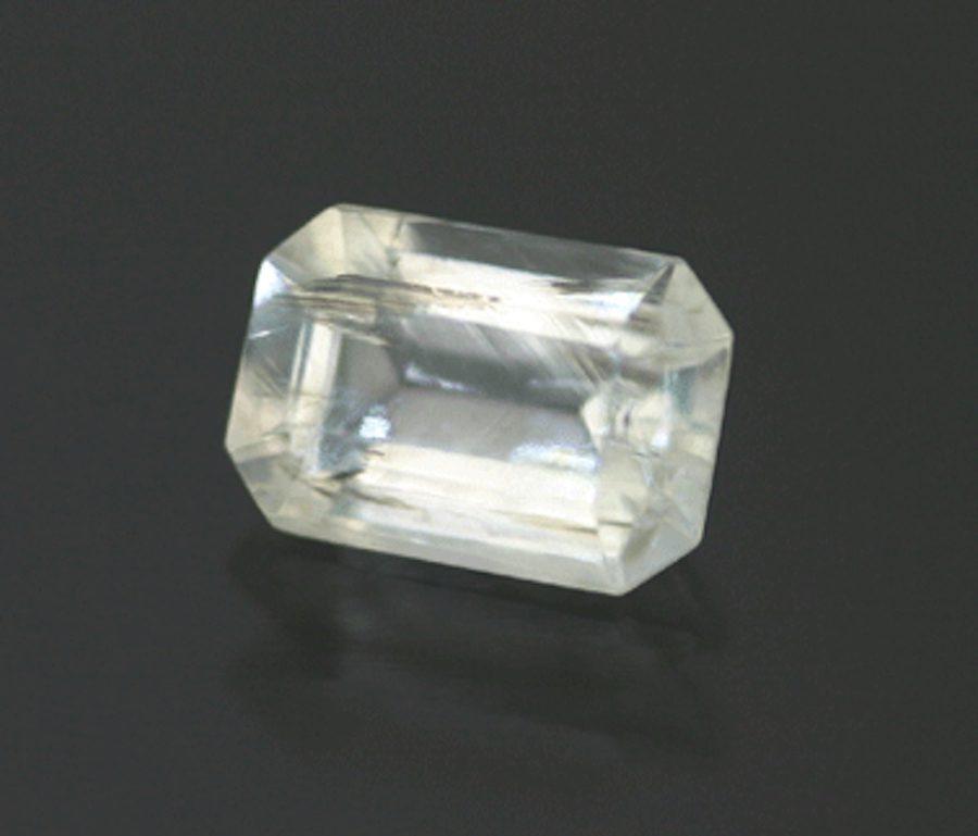 thaumasite, rectangular step cut - South Africa