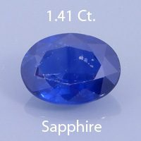 Oval Cut Sapphire, Unknown, 1.10 Ct. cts