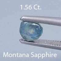 Portuguese Brilliant Cut Sapphire, Montana, U.S.A., .70 cts