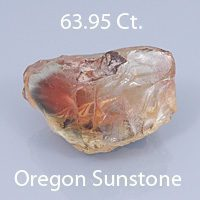 Custom Pear Cut Sunstone, Sunstone Butte Mine, Oregon, U.S.A., 20.16 cts