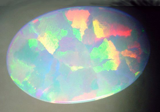 synthetic opal - opal engagement ring stone
