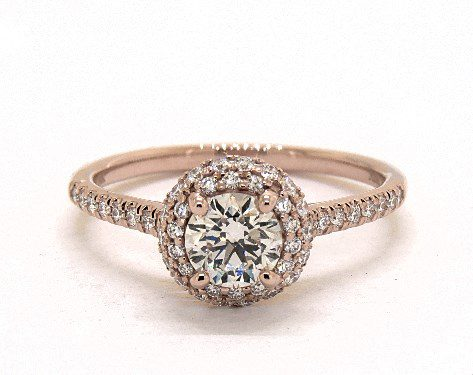 searching for diamonds online - 0.7ct K in rose gold halo engagement ring