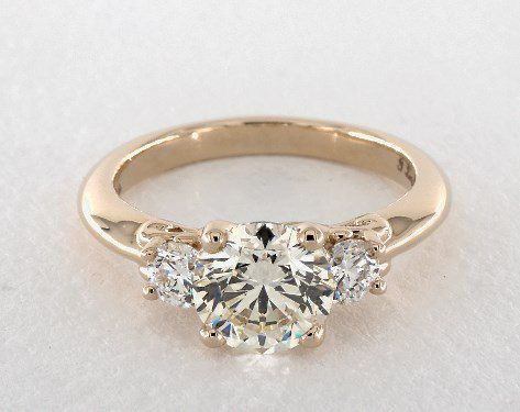searching for diamonds online - 1.5ct M 3-stone diamond engagement ring