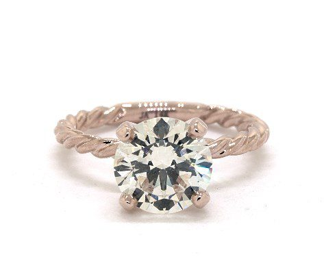 searching for diamonds online - 2.02ct M in rose gold solitaire engagement ring