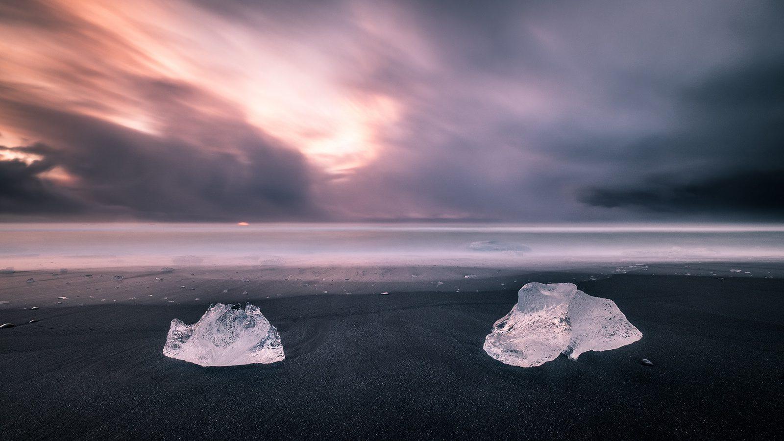 ice on a beach - lab-created diamonds