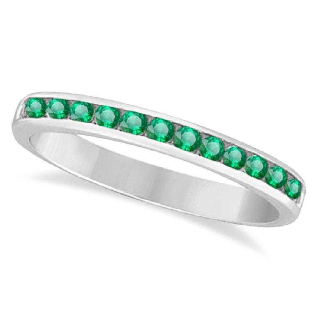 channel-set emerald band - protective gem settings