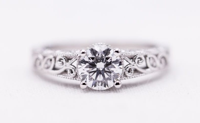 engagement ring - lab-created diamonds