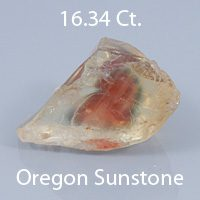 Barion Kite Cut Sunstone, Dust Devil Mine, Oregon, U.S.A., 3.31 Ct. cts
