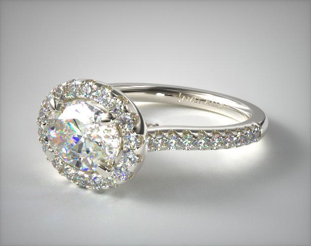 oval-cut diamond guide - east-west engagement ring
