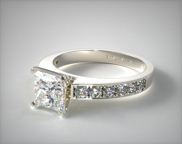 princess-cut diamonds - modern style engagement ring