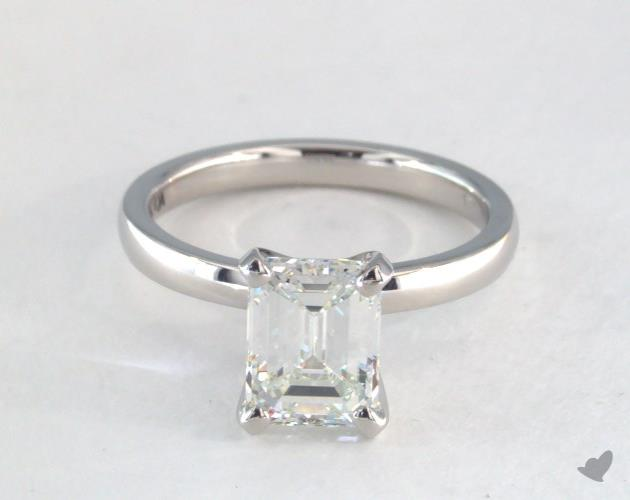 emerald & asscher cut diamonds - 1.5ct J solitaire engagement ring