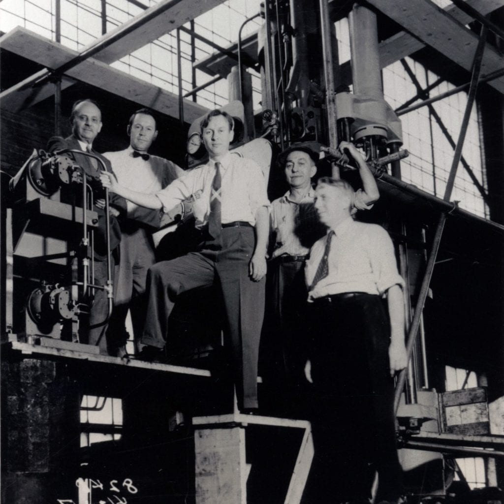 lapidary technology history - Members of GE's early 1950s Project Superpressure team. Courtesy of the H. Tracy Hall Foundation