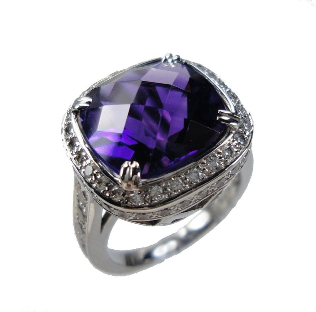 amethyst ring - affordable engagement ring stones