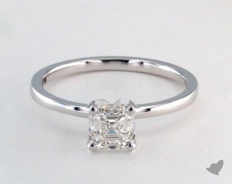 emerald & asscher cut diamonds - asscher-cut solitaire engagement ring