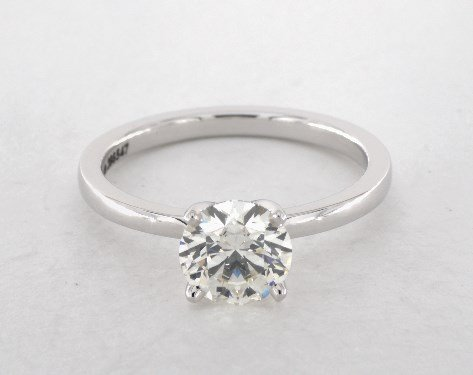 diamond shape - round-cut solitaire engagement ring
