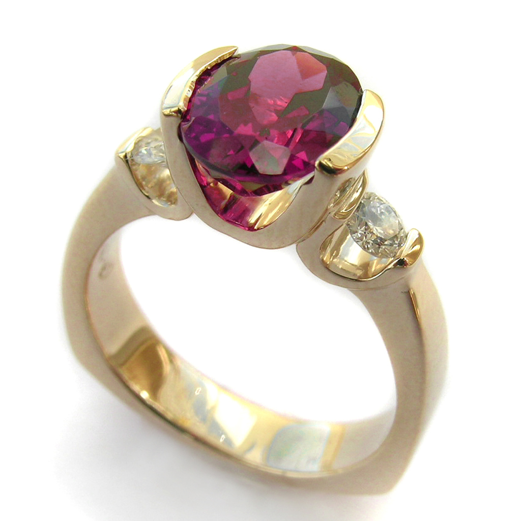 rhodolite ring - affordable engagement ring stones