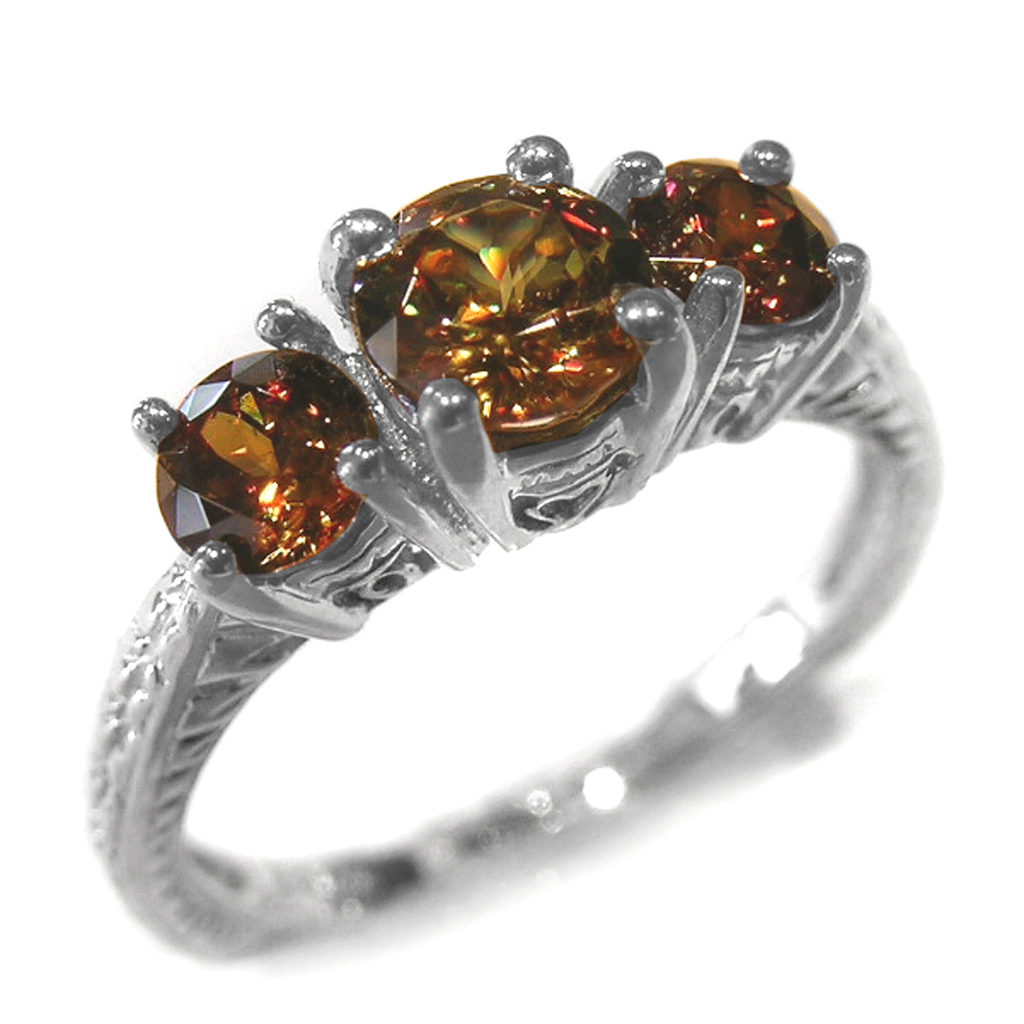 sphene ring - delicate engagement ring stones
