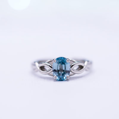 oval-cut zircon - delicate engagement ring stones