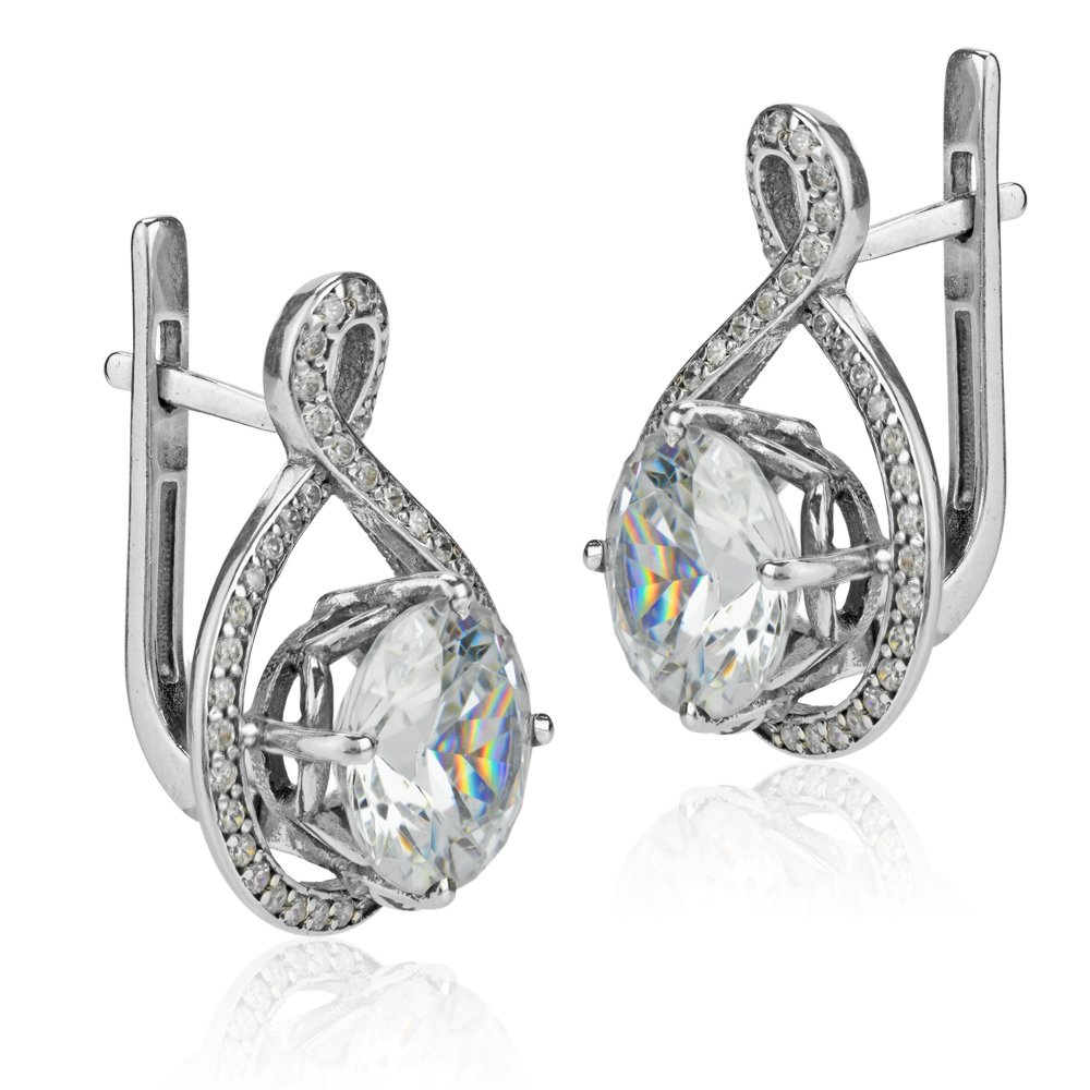 how to spot a fake diamond - diamond imitation earrings