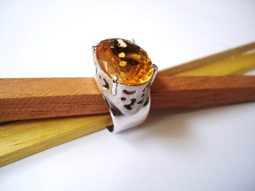 citrine ring - affordable engagement ring stones