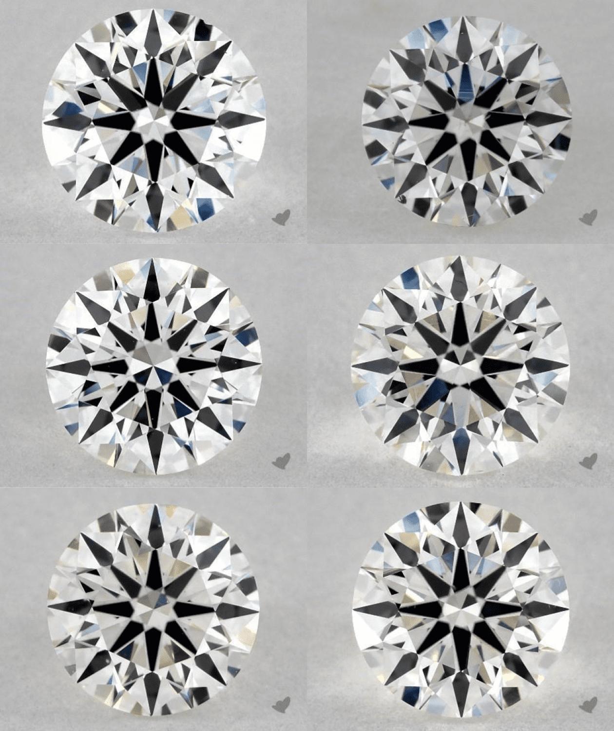 diamond fluorescence - different diamond colors