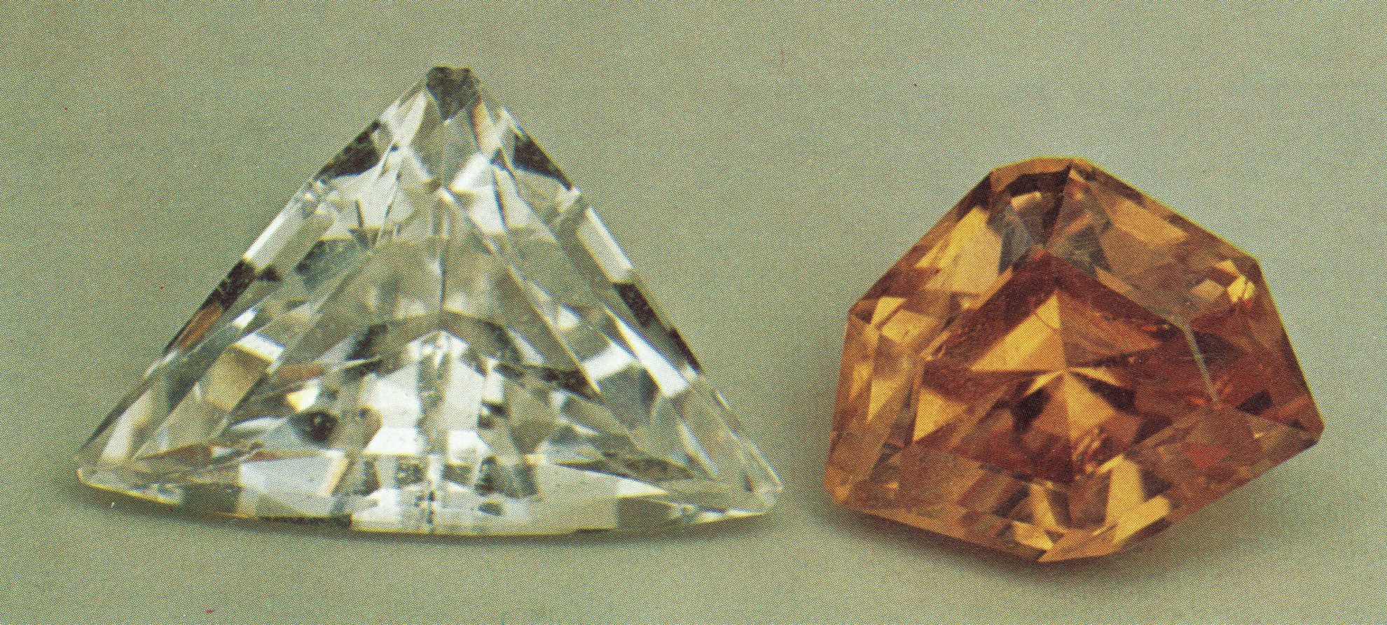 faceted scheelite gems - Arizona and California