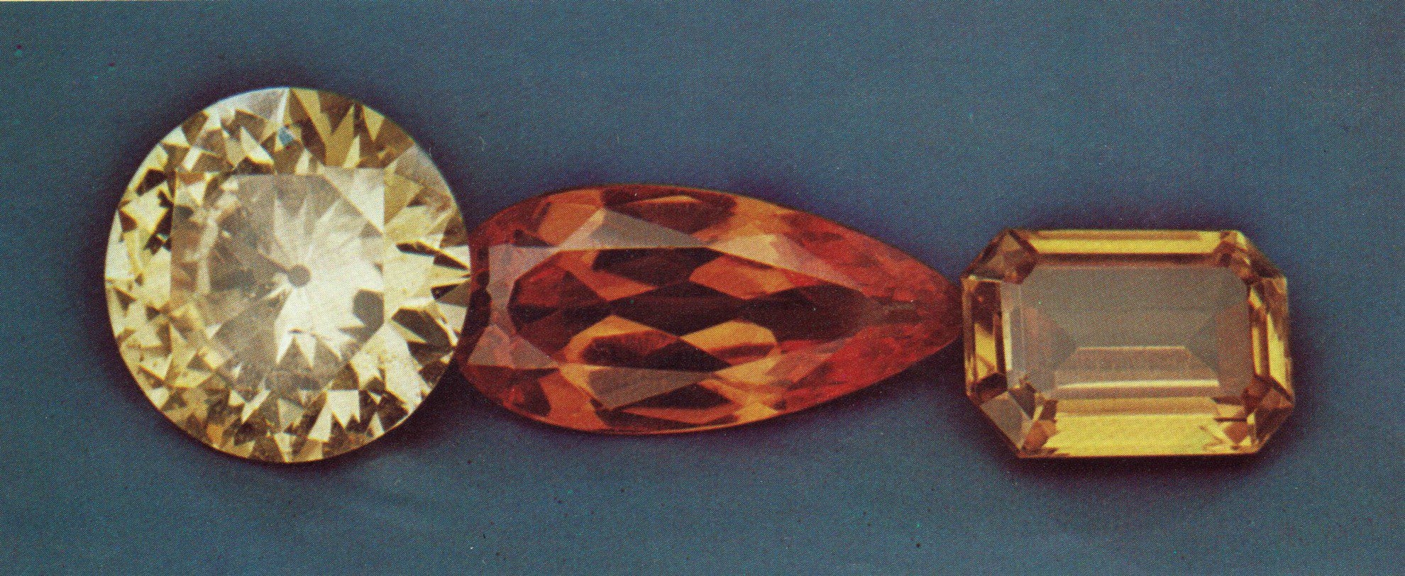 faceted scheelite gems - Korea, Mexico, Arizona