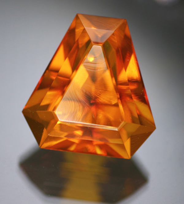 triangle-cut amber - delicate engagement ring stones