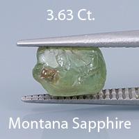 Fancy Brilliant Emerald Cut Sapphire, El Dorado Bar, Montana, U.S.A., 1.76 Ct. cts