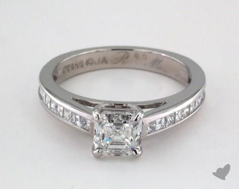 diamond shape - asschre cut diamond engagement ring