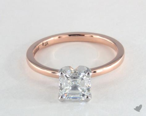 diamond shape - asscher-cut solitaire engagement ring