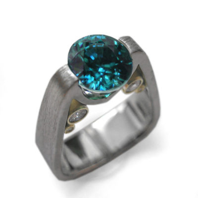 how to spot a fake diamond - blue zircon ring