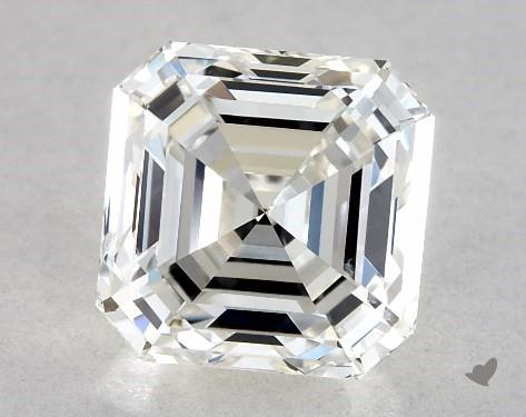 emerald & asscher cut diamonds - normal table