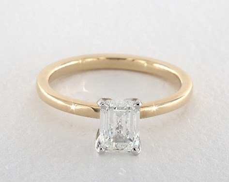 diamond shape - emerald-cut solitaire engagement ring