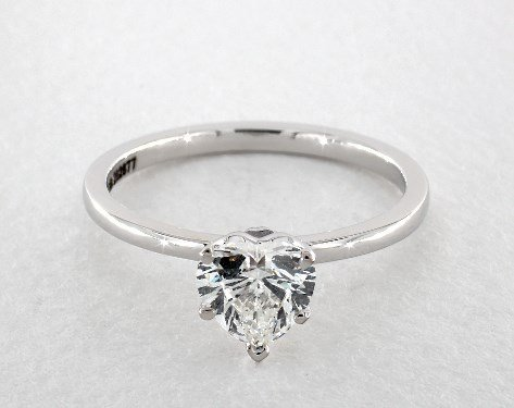 diamond shape - heart-cut solitaire engagement ring