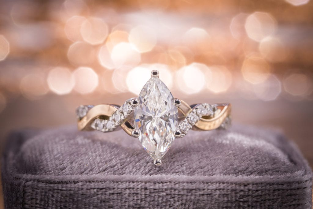 diamond shape - marquise diamond engagement ring