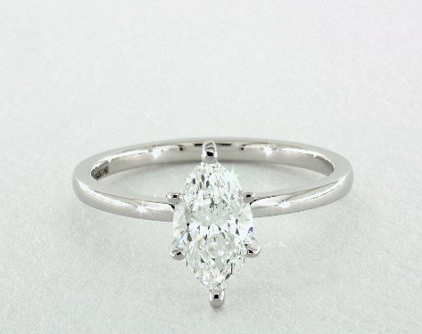 diamond shape - marquise-cut solitaire engagement ring