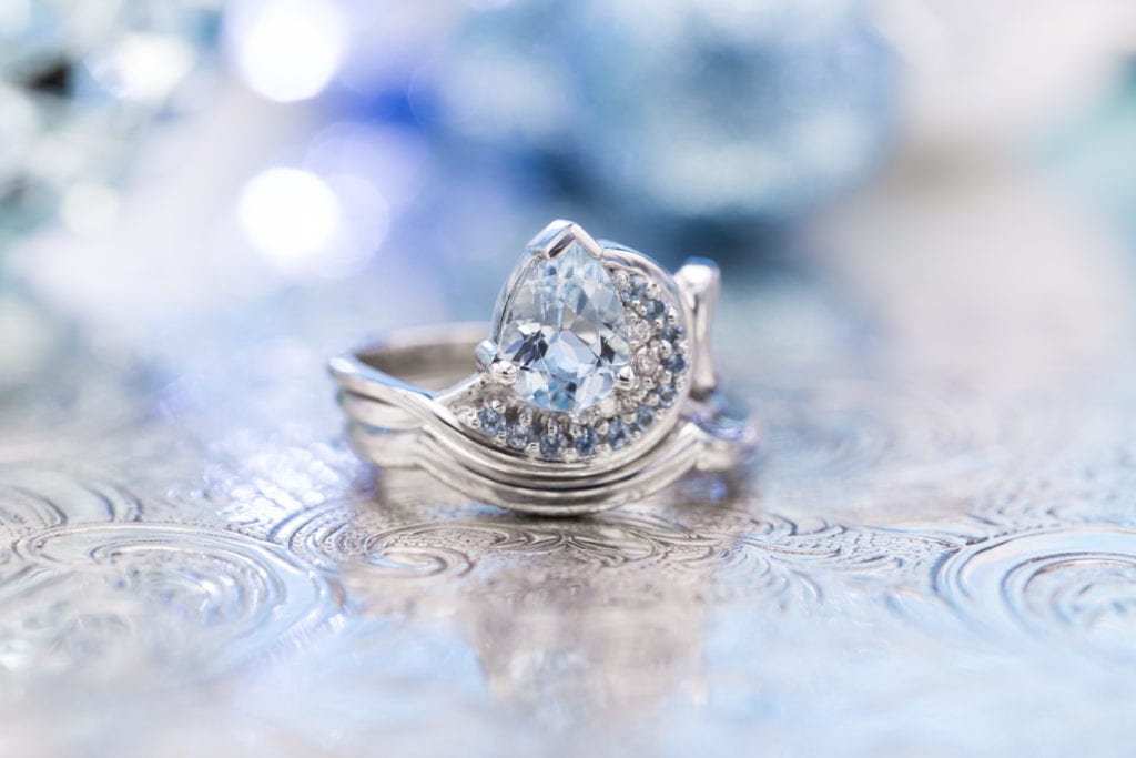 aquamarine ring - affordable engagement ring stones