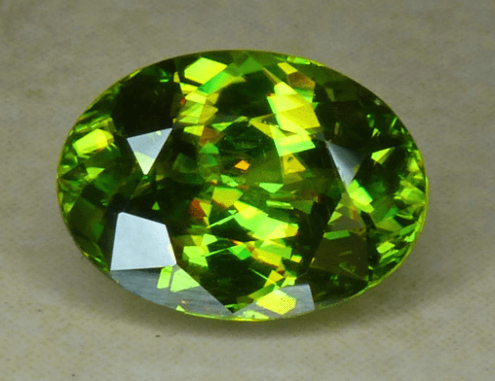 faceted sphene - Madagascar
