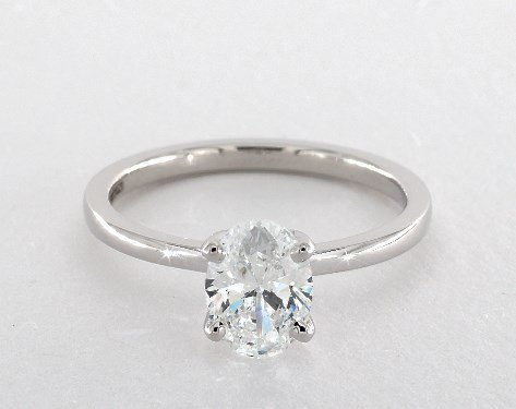 diamond shape - oval-cut solitaire engagement ring