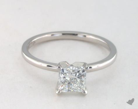 diamond shape - princess-cut solitaire engagement ring