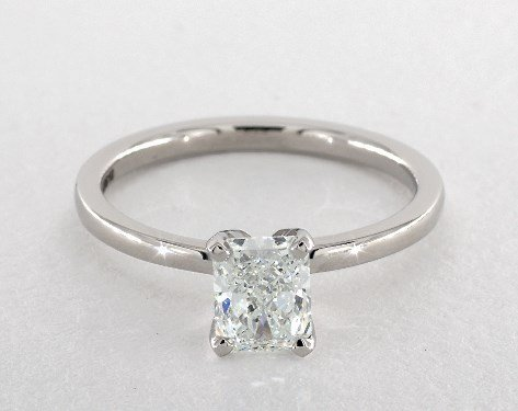 diamond shape - radiant-cut solitaire engagement ring
