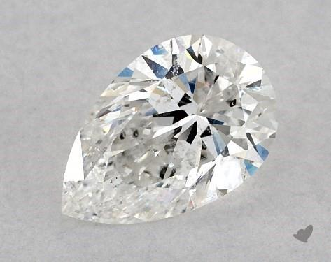 pear-shaped diamond guide - not eye clean