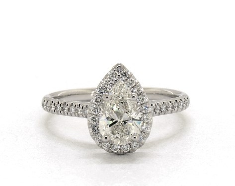 pear-shaped diamond guide - I color in halo setting