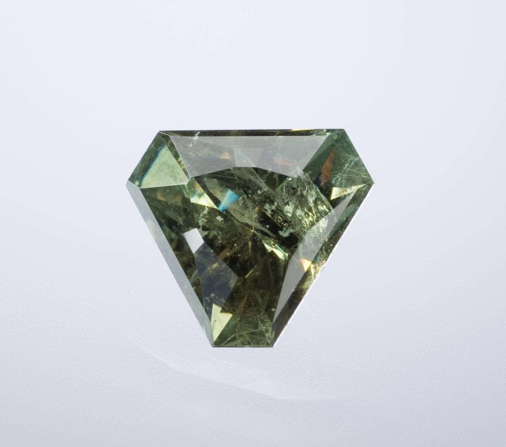 trilliant-cut demantoid garnet - expensive engagement ring stones