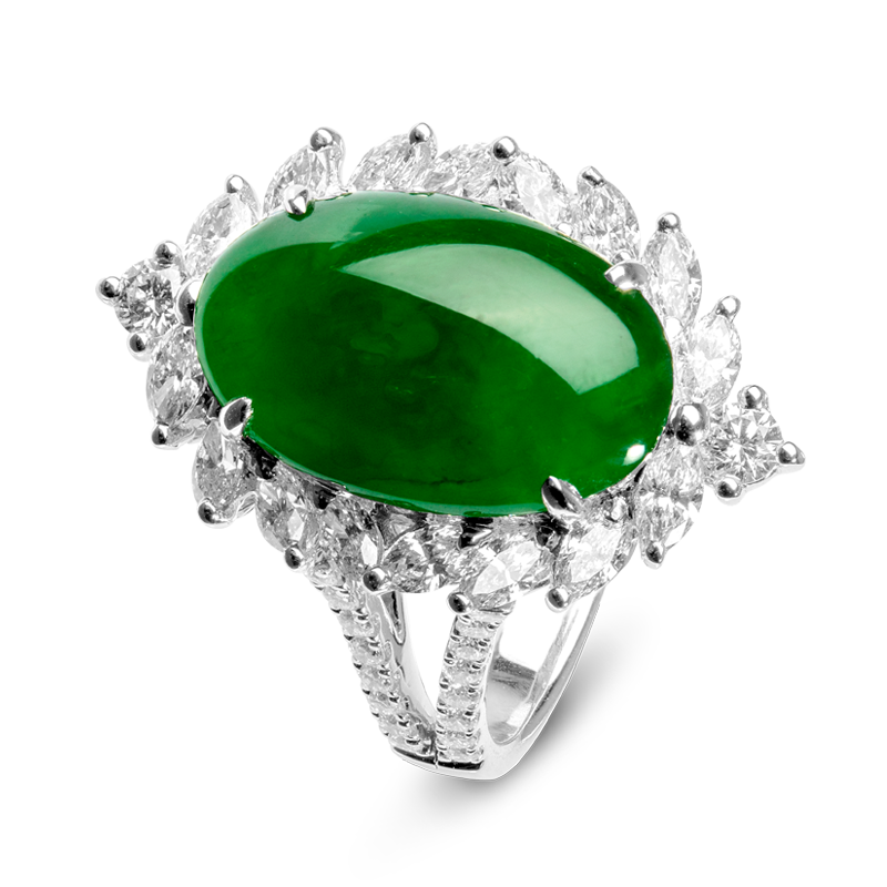 jadeite ring - expensive engagement ring stones