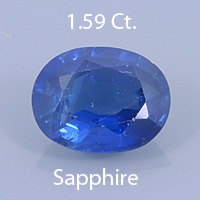 Fancyu Round Brilliant Cut Sapphire, Unknown, .82 Ct. cts