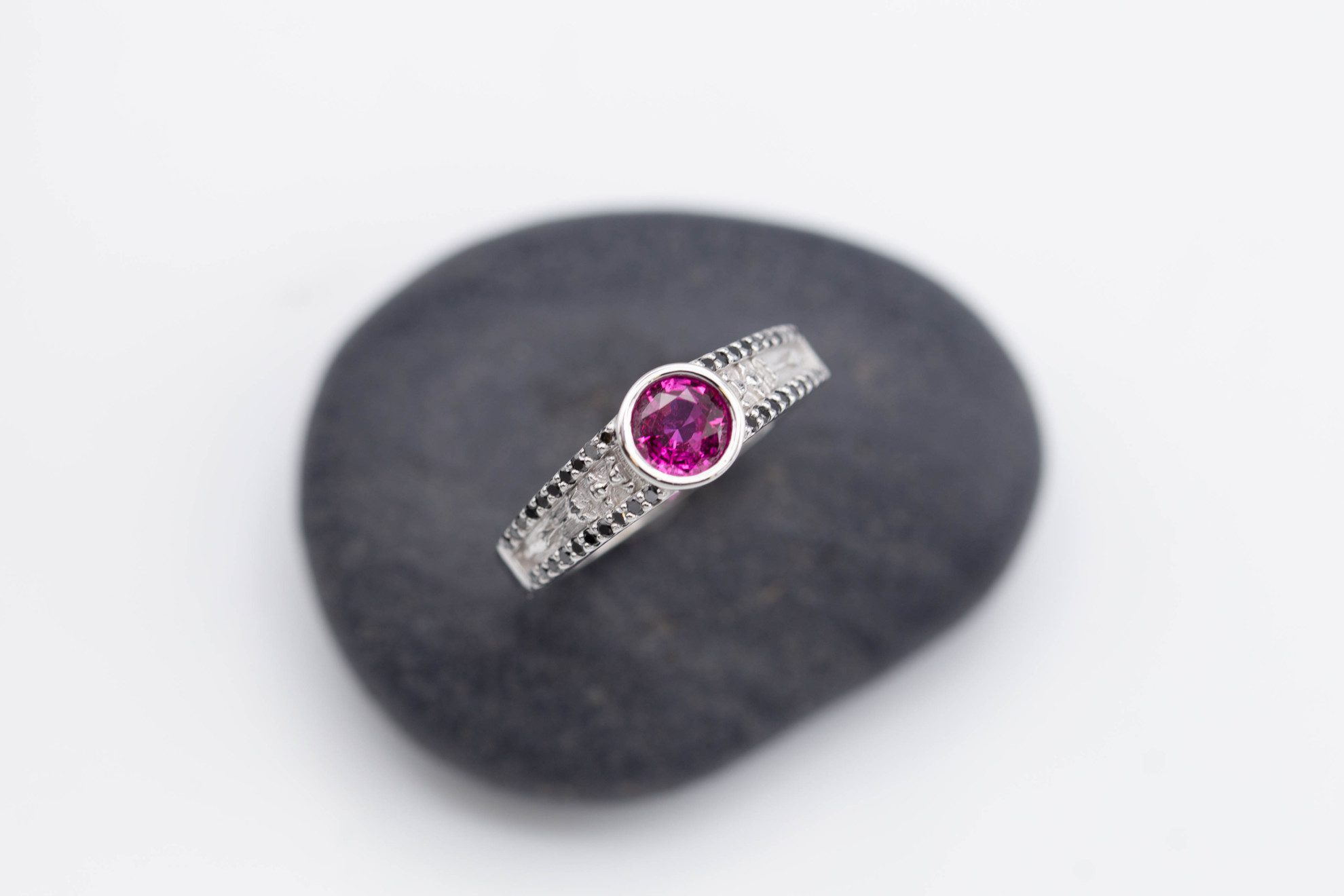 ruby & sapphire survey - mozambique ruby ring