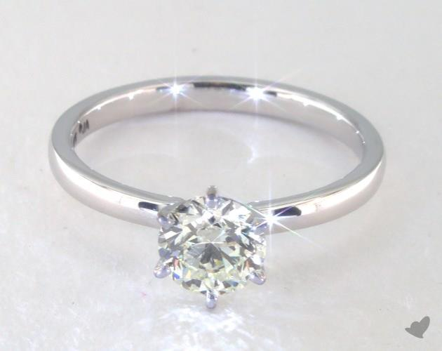 buying a one carat diamond ring - solitaire engagement ring
